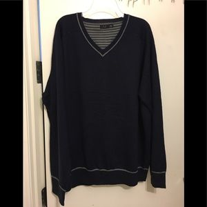 BRAND NEW Men F&F V Neck Knit Sweater. Navy 3XL